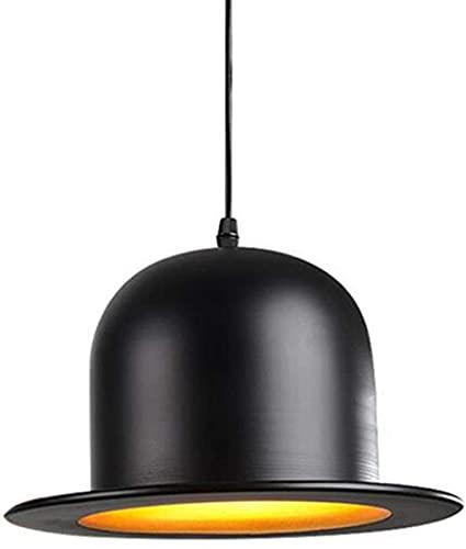 MWKL Sombra Creativa de la lámpara del Sombrero del bombín, Luces Colgantes del Techo de los Sombreros del bombín Pantallas, luz del...