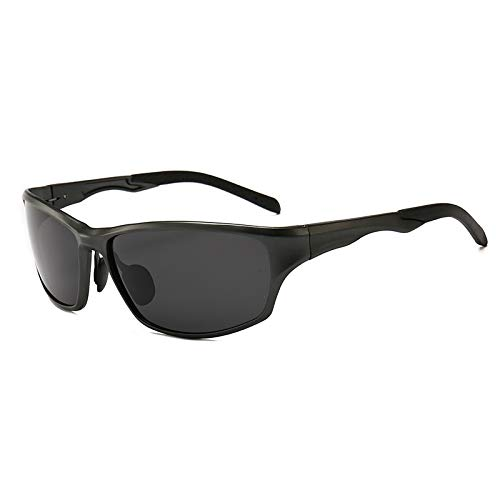 Glqwe zonnebril, klassieke UV-bescherming, klassiek, sportbril, aluminium zonnebril, totale magnesiumlegering, frame van gepolariseerde Sole
