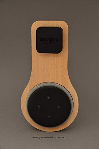 Halterung Echo Dot Gen 3 aus BUCHE | Echo Dot 3. Generation | Halter | Wandhalterung | Ständer | Alexa | Holz | Smart Home