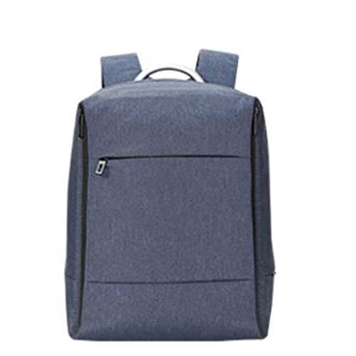 多機能バックパック、メンズラップトップバックパックファイルペン収納袋18リットル容量バック隠しジッパーバッグ (Color : Blue, Size : 31.5*14*38CM)