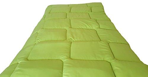 3 SUiSSES Bettdecke Decke Sommerdecke Couette Mikrofaser • Übergröße • Große Größen Wendre (Grün, 240x220cm, 350g/m2)