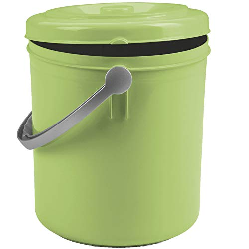 Mülleimer 20 Liter mit Henkel und verschließbarem Deckel Grün Müll Eimer Abfalleimer Papierkorb Mülltonne Kosmetikeimer Windeleimer 20l Abfallbehälter Abfallsammler Mülltonne Kunststoff geruchsdicht