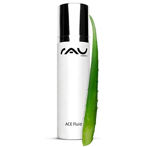 RAU ACE Fluid 50 ml – Crema da giorno con vitamina C, A & E, acido ialuronico, aloe vera e olio di mandorle
