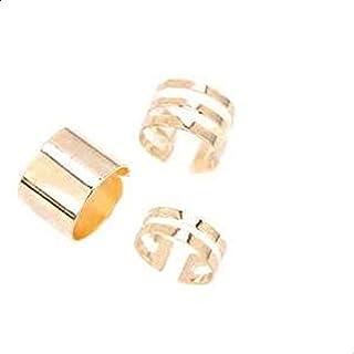 3 قطع الذهب الساحرة المرأة خواتم الإناث الذهب