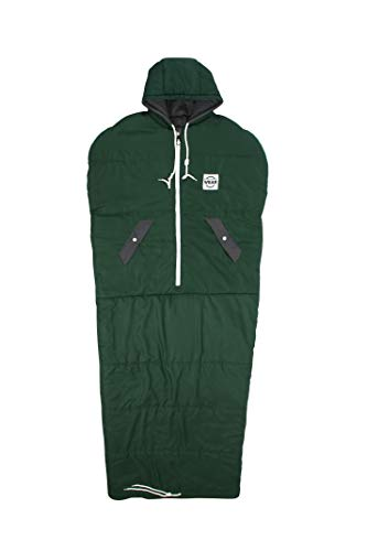 VINSONMASSIF Wearable Sleeping Bag for Camping, Hiking and Outdoors (Royal Green)