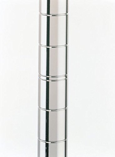 """Metro 63UP Metro Site Select Chrome Plated Steel Mobile Post, 1"""" Diameter x 62-9/16"""" Height (Pack of 4)"""