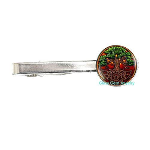 Celtic Tree of Life Tie Clip, Celtic Knot Tie Clip, Celtic Tree Tie Clip, Irish Jewelry Tie Pin, Scandinavian Celtic Pendan, Men's Tie Clip t,Q0029 (Y1)
