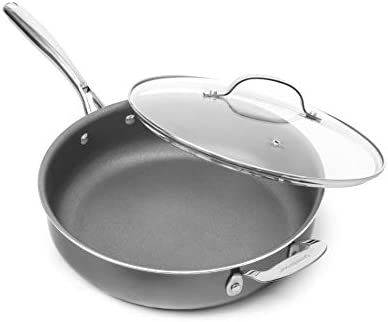Granitestone Nonstick 14 Frying Pan with Lid Ultra Durable Mineral and Diamond Triple Coated product image