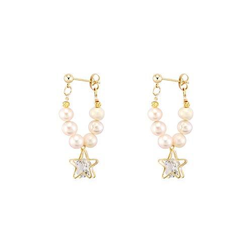 Xi-Link Pendientes De Estrellas De Perlas Pendientes De Diseño Único Personalidad Exquisito Huevos Mayores (Color : Ear Studs)