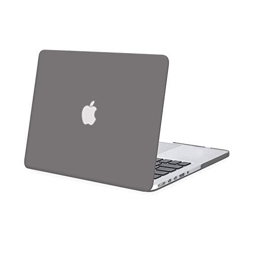 MOSISO Hülle Kompatibel mit MacBook Pro Retina 13 - Plastik Hartschale Hülle Kompatibel mit Ältere Version MacBook Pro Retina 13 Zoll (Modell: A1502 und A1425) (Release 2015 - Ende 2012), Grau