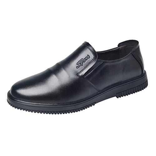 AIXSHOE Zapatos de Seguridad Hombre Zapatos de Trabajo para Cocina Uso agroalimentario Antideslizantes Calzado de Protección de Cuero