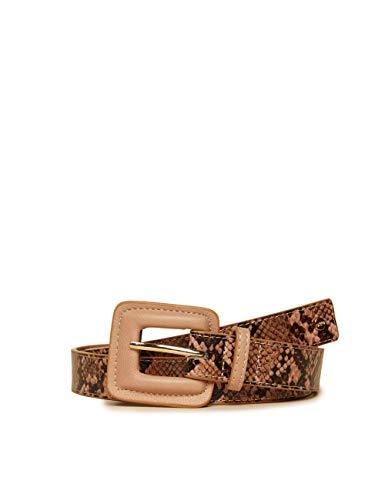 Oltre : Cintura in similpelle stampa pitone Marrone 01 (Italian Size)