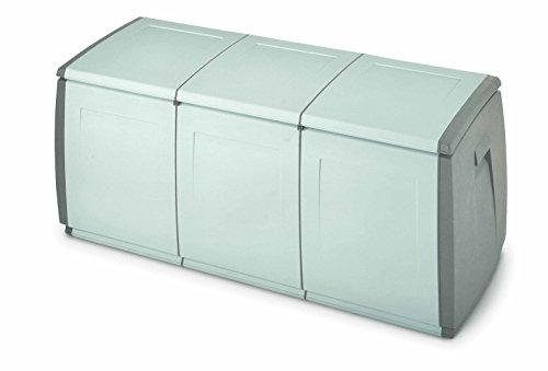 Terry, In & Out Box 140, Multifunktionsbox, Farbe: Grau/Taubengrau, Material: Kunststoff, Abmessungen: 139x54x57 cm, Fassungsvermögen: 360 l