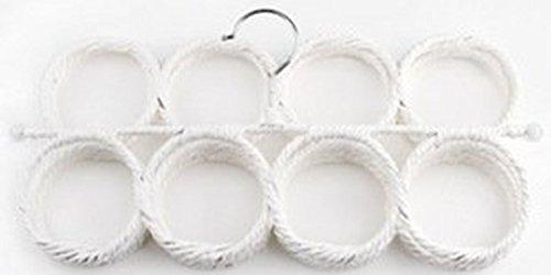 マルチハンガー スカーフ・ストールに 28個の穴 白