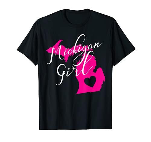 Michigan Girl Home State Gift Women Teens Michigander Gift T-Shirt