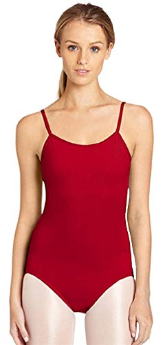 Insun Femme Justaucorps de Danse Leotard à Bretelle Gym Yoga Bodysuit en Lycra Rouge M