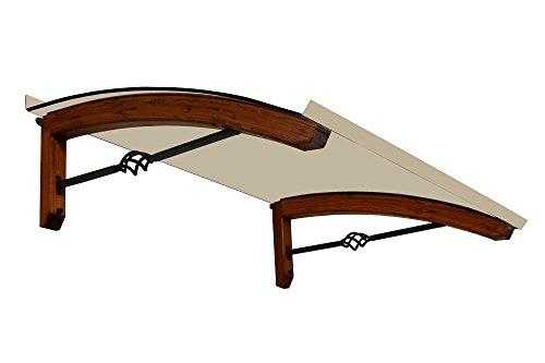BELLHOUSE COPERTURE Pensilina in legno Pigna TECK P 90 H 42 L 150 CM-OPALE Low-Cost
