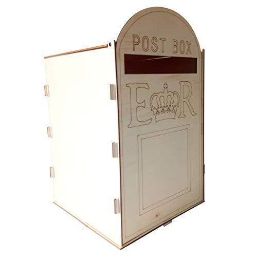 CUTICATE Briefkasten aus Holz Briefkästen Holzbriefkästen Postkasten Wandmontierter Vintage-Dekor Im Freien