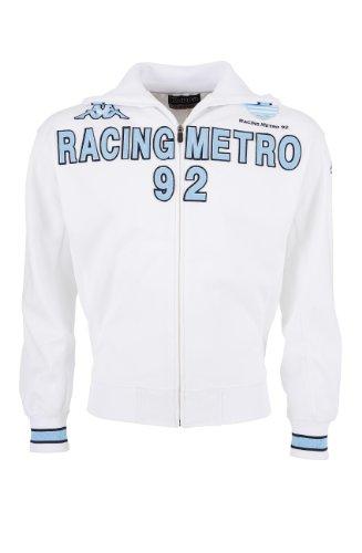 Kappa Racing Metro 92 Jungen Rugby-Trainingsjacke, Top 14, offizielle Kollektion 110 weiß - weiß