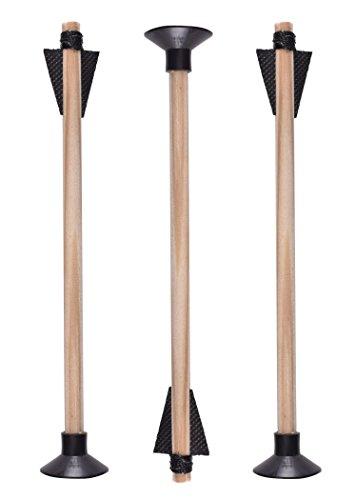 Battle-Merchant 3 Pfeile für Kinder Armbrust aus Holz Holzpfeil Fasching LARP Pirat Holzspielzeug