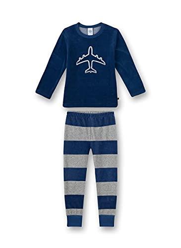 Sanetta Jungen Schlafanzug lang blau Pyjamaset, Ensign Blue, 140