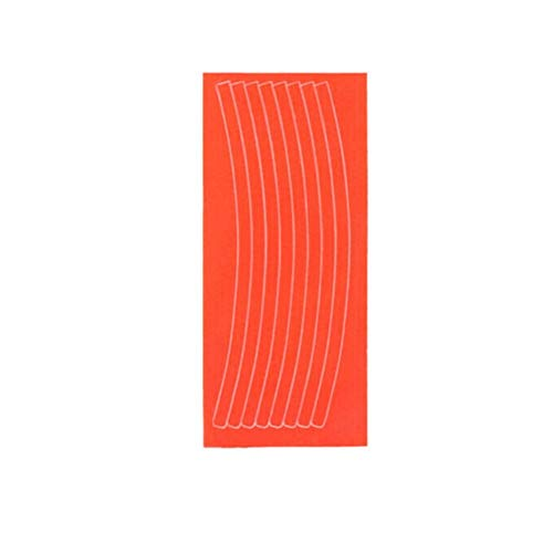 ANXIN Mountain Bike Bicycle Wheel Rim Reflective Stickers Decals Protector Safety MTB Reflector (Color : Orange)