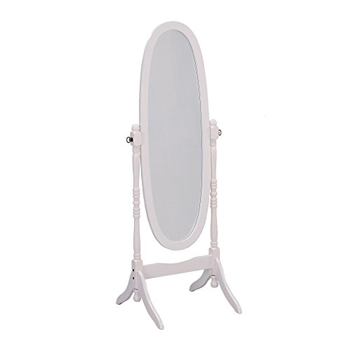 ORE International Cheval Standing Mirror, 59.5' Height, White Finish