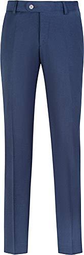 STENSER B49A Jungen Anzughose Schuluniform Elastische Taille, Marineblau, 134 R (Label 32/134)