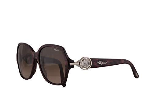 Chopard SCH206S gafas de sol w/Brown Lens 56mm 0VAA SCH 206S mujer púrpura brillante Grande