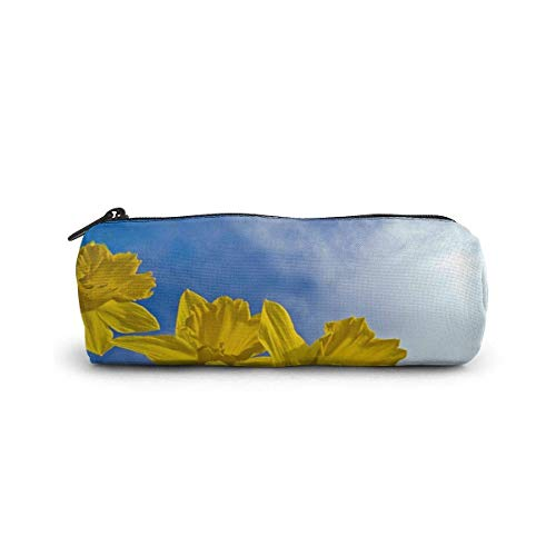 IOPLK Kulturbeutel runde Federmäppchen Kosmetiktasche Federmäppchen Pencil Case/Cosmetic Bag,Ancient Trees in The Forest Canvas Stationery Stylish Simple Pencil Bag