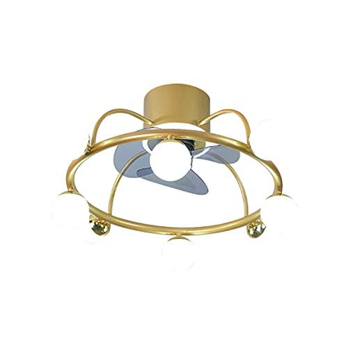 Luces eléctricas de ventilador, luces de techo invisibles integradas, comedor y luces de ventilador de dormitorio, luces de ventilador de techo