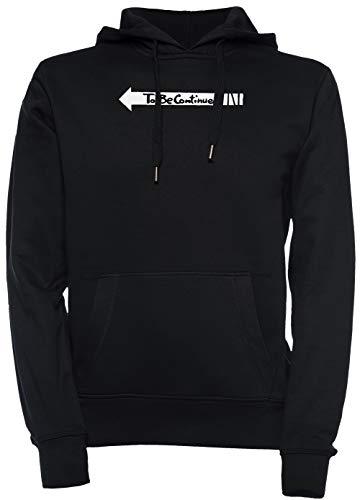 Erido Jojos Bizarre Aventure - À Être A Continué Unisexe Homme Femme Sweat-Shirt Sweat À Capuche Pull-Over Noir Taille XL Men's Women's Hoodie Black T-Shirt X-Large Size XL