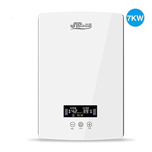 Calentador de Agua Caliente de Temperatura Constante de baño instantáneo electrónico de 7KW con Pantalla LCD
