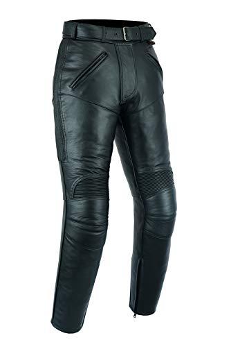 Texpeed - Damen Motorradhose - Rindsleder mit entfernbaren CE-Protektoren - EU50-76cm Innenbein