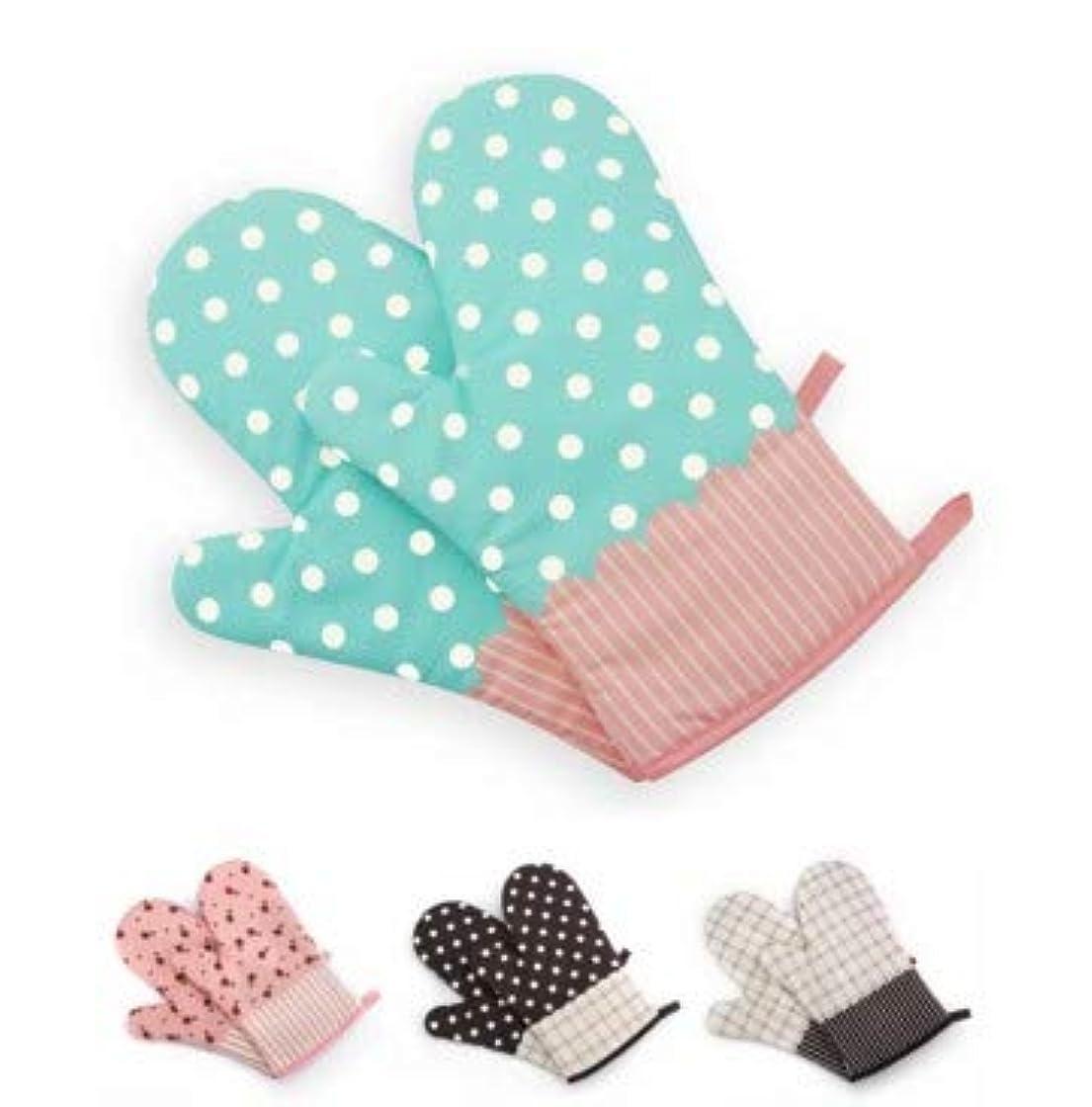 水平浮くフォーマル高温オーブン電子レンジ手袋絶縁焼け防止耐熱ベーキング手袋 (PATTERN : Color: pink floral)