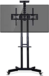 TV Mount Stands, Movable cart TV Stand for 32-65 inch Plasma/LCD/LED (157cm)