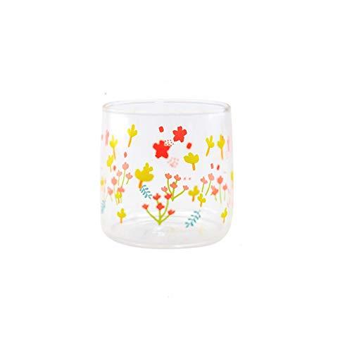 JYDZSW Taza de Agua Taza de Cristal Té de Estilo japonés Taza de café Taza de Cristal de Cristal de Cristal Tazas Transparentes Taza de Agua Resistente al Calor Taza de Agua (Color : S1)