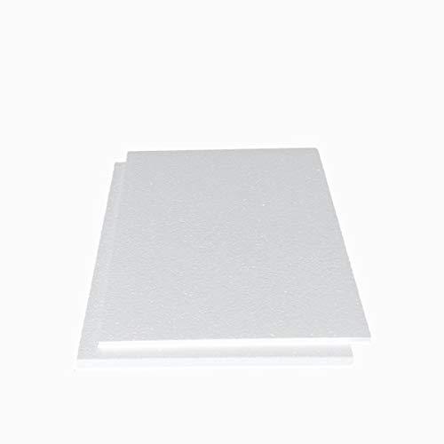 発泡スチロール 板 A4サイズ 中硬さ 5mm1枚と10mm1枚 白色