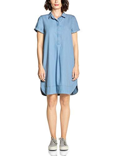 Street One Damen 142455 Kleid, Light Blue Tencel Washed, (Herstellergröße:38)