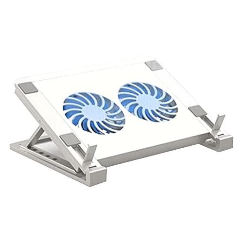 Quata Almohadilla Enfriadora para Computadora con Doble Ventilador Soporte para PortáTil/Tableta Enfriador Luminoso para PortáTil Juegos Ventilador para PortáTil 12 una 17 Pulgadas