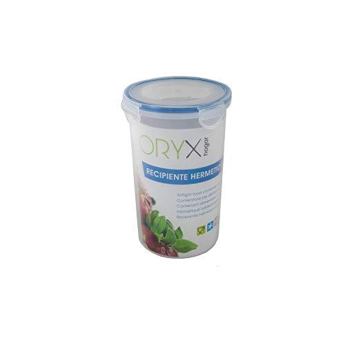 ORYX 5025024 Recipiente Hermetico Plastico Redondo 1.200 ml. Ø 12 x 19 (Alt.) cm