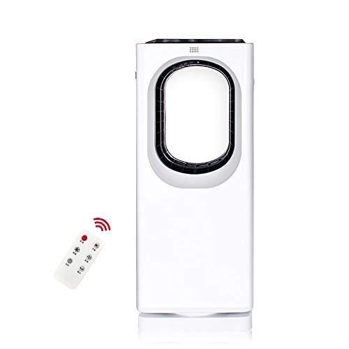 Ventilador sin aspas Control Remoto Silencio, Ventilador de torre oscilante 90°, Control Remoto, 8H Temporizador, Ventilador de Mesa Vertical oscilante para Inicio/Dormitorio