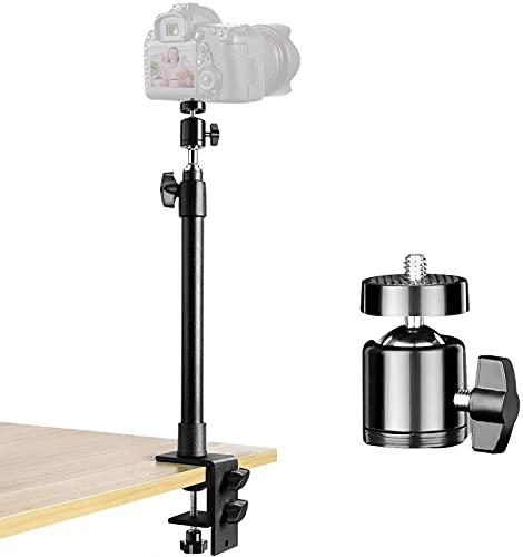 Soporte de luz de Mesa Soporte, para DSLR cámara, con Tornillos de 1/4'3/8' para cámaras de abrazadera de mesa,luz de anillo y luz de vídeo