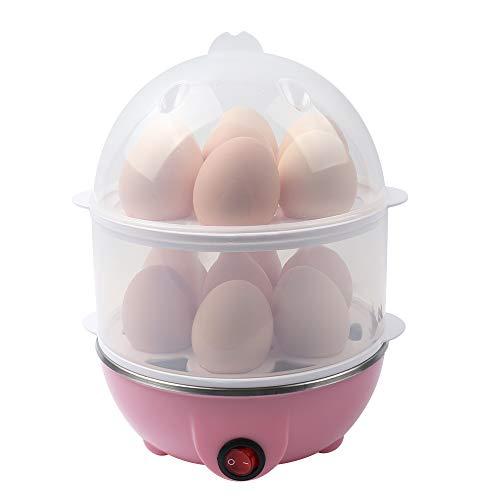 VIGIND Egg Cooker,350W Rapid Electric Egg Maker,Egg Steamer,Egg Boiler,Egg Cookers With Automatic Shut Off,14 Egg Capacity Double-Layer Lazy Egg Boiler,MultifunctionHeated Milk,Heated Food