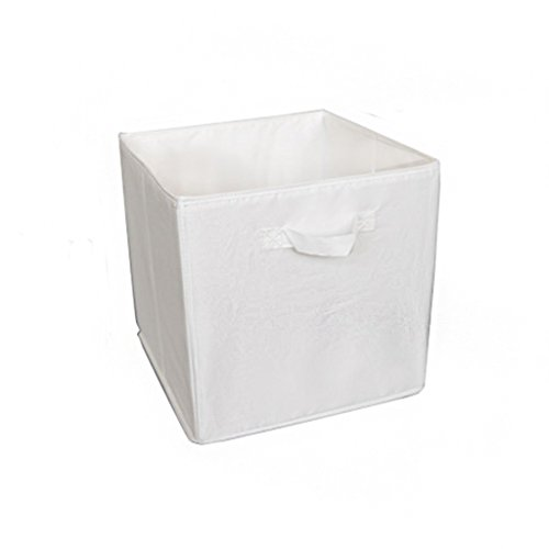 TOOGOO Tissu Non-Tiss/é Panier de Rangement Sac de Rangement Pliable Panier Sac avec Poign/ée Accueil Organiser Box Office Accueil Placard Jouets Bureau Chambre. 4 Pack