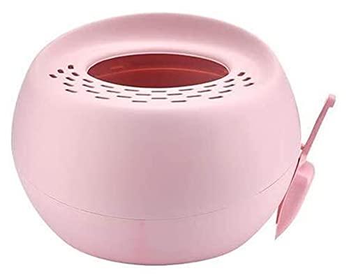 YQQQQ Chiuso Rotondo Grande Auto-Pulizia Gatto Scatola di lettiera Formazione Shorthair Gatto lettiera Pala litiere Chat Pet Prodotti (Color : Pink)