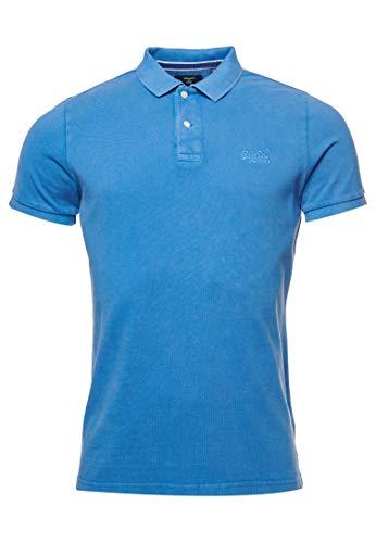 Superdry Herren Vintage Destroyed Polohemd aus Biobaumwolle und Pikee Heraldisches Blau XXXL