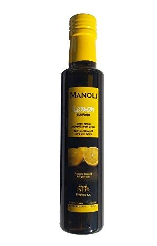 Zitronen Olivenöl Griechenland MANOLI Kreta 250ml Lemon Oliven Öl für Salat und Gemüse