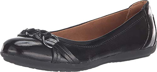 Comfortiva Women's Maloree Black Patent Leatherflats-Shoes 9 2A(N) US
