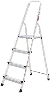 comprar comparacion ORYX 23010002 Escalera Aluminio 4 Peldaños Plegable, Uso doméstico, Antideslizante, Ligera y Resistente